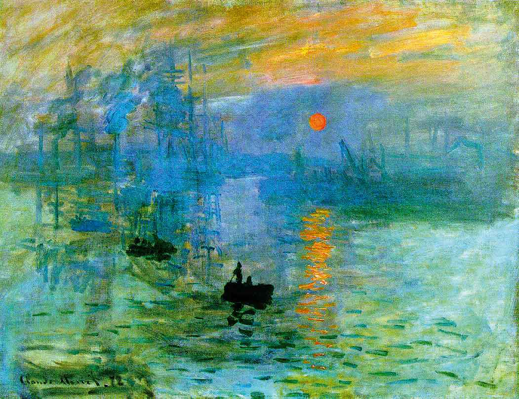 """""""Soleil levant"""" di Claude Monet, olio su tela 48x63 cm, Musée Marmottan Monet, Paris"""