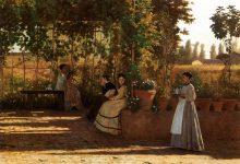 Silvestro Lega – Un dopo pranzo, 1868