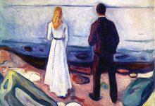 Ha una sua solitudine lo spazio, poesia di Emily Dickinson e dipinto di Edvard Munch