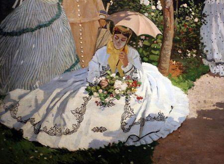 """Donne in giardino"" ~ Claude Monet"