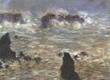 Tempesta a Belle-Île(Tempête, côtes de Belle-Ile) di Claude Monet