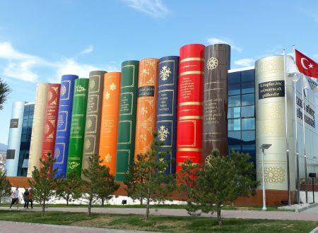 Turchia, la biblioteca con le colonne a forma di dorso di libro
