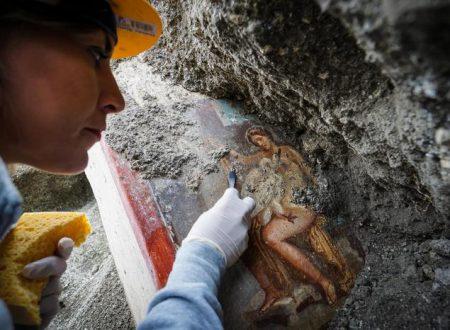 Leda e il Cigno a Pompei, l'ultimo affresco che emerge dalle viscere della terra