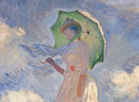 Saggio di figura en plein air. Donna con il parasole girata verso sinistra – Claude Monet