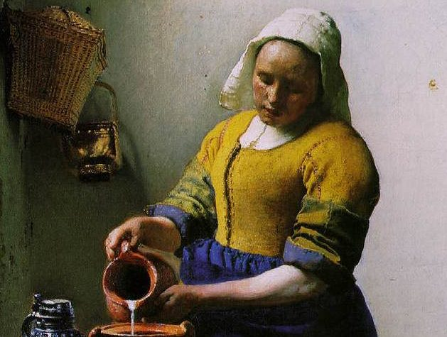 """""""La Lattaia"""" di Jan Vermeer: la solennità di un gesto ordinario che ferma il tempo"""