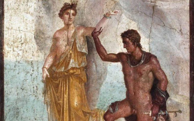 """""""Perseo e Andromeda"""" della Casa dei Dioscuri a Pompei"""