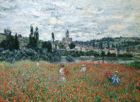 """""""Campo di papaveri a Vétheuil"""" (Les coquelicots près de Vétheuil) di  Claude Monet"""