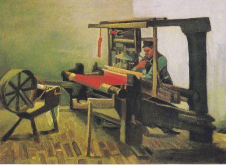 """""""Tessitore, faccia a sinistra con filatoio"""" di Vincent van Gogh"""