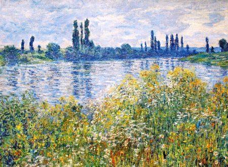 """""""Fiori sulle rive della Senna vicino a Vetheuil"""" di Claude MONET"""