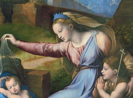 """""""Madonna del Diadema blu"""" di Raffaello Sanzio e Giovan Francesco Penni"""