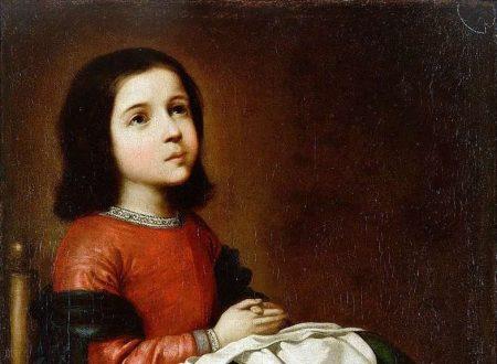 """""""Vergine bambina in orazione"""" di Francisco de Zurbarán"""