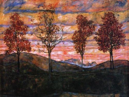"""""""Quattro alberi"""" di Egon Schiele"""