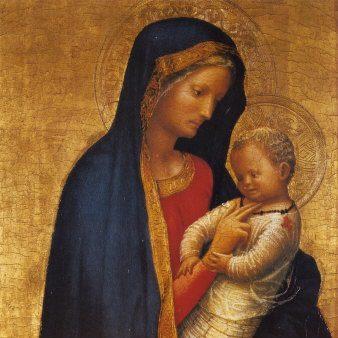 LaMadonna Casini(Madonna col Bambino), detta ancheMadonna del solletico, diMasaccio