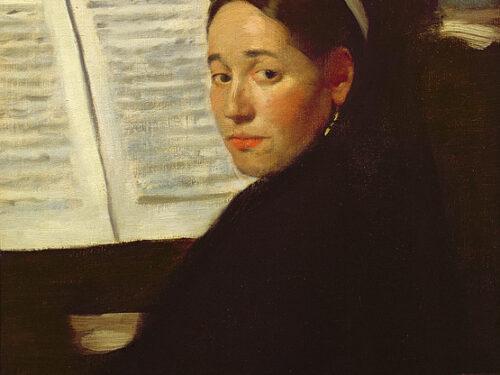 """""""Marie Dihau al piano"""" di Edgar Degas"""