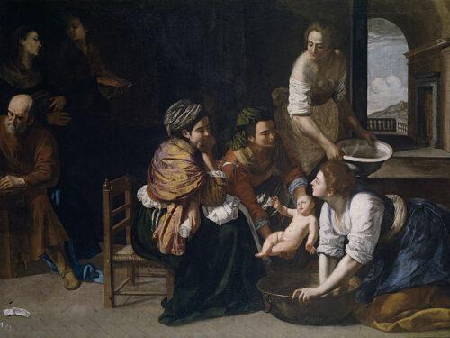 """""""Nascita di San Giovanni Battista"""" di Artemisia Gentileschi"""