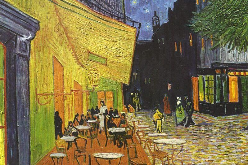 """""""Terrazza del caffè, la sera, Place du Forum, Arles"""" di Vincent van Gogh"""