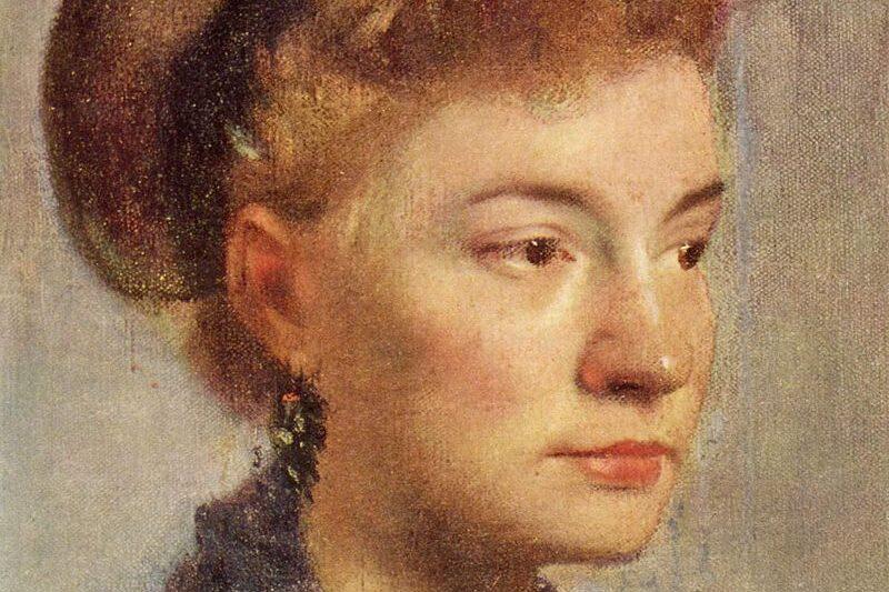 """""""Ritratto di giovane donna"""" di Edgar Degas"""